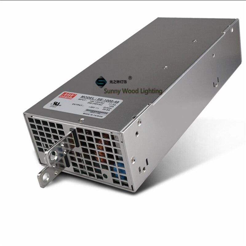100-240VAC a 48VDC ,1000W ,48V 20.8A UL listado fuente de alimentación, pantalla LED, monitor de alta potencia, controlador de hecho, SE-1000-48