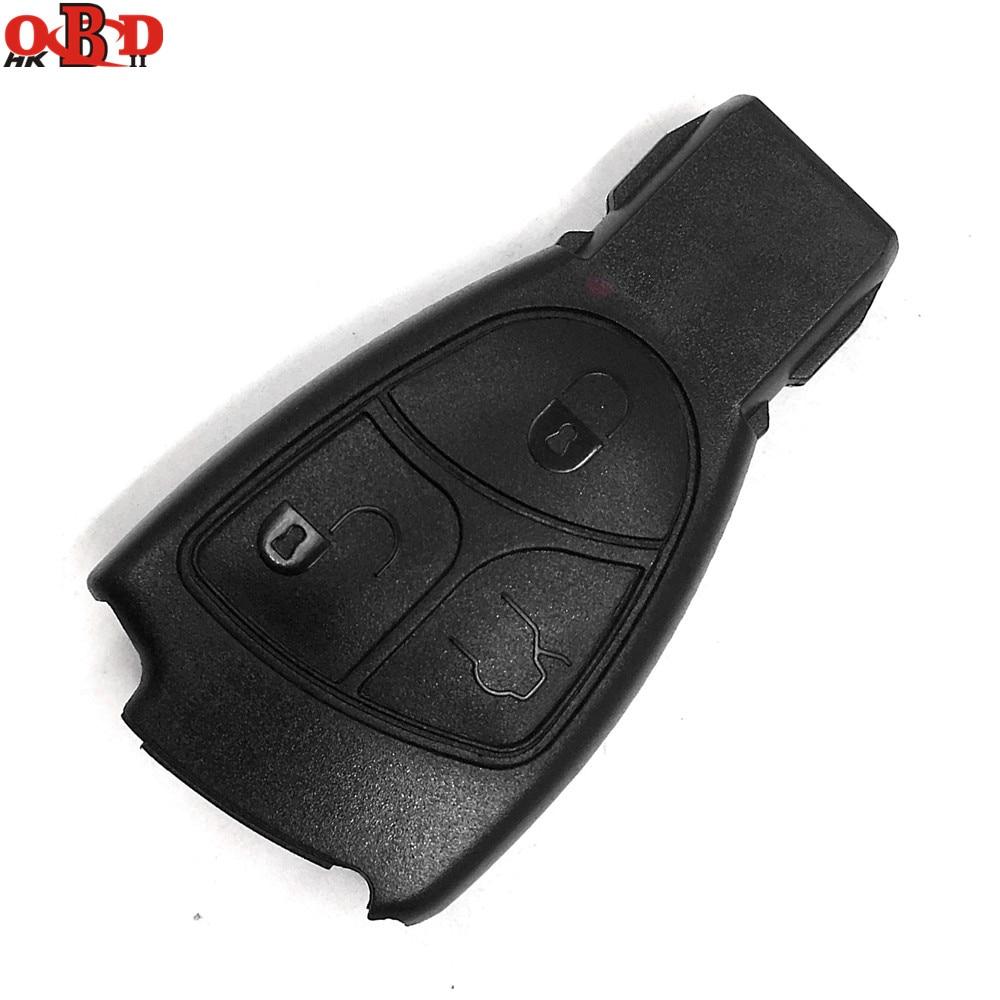 HKOBDII 3 Buttons Smart Car Key Case Shell for Mercedes-Benz,MB
