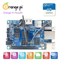 Laranja pi plus2e 2gb h3 quad-core open-source única mini placa, suporte android, ubuntu, debian