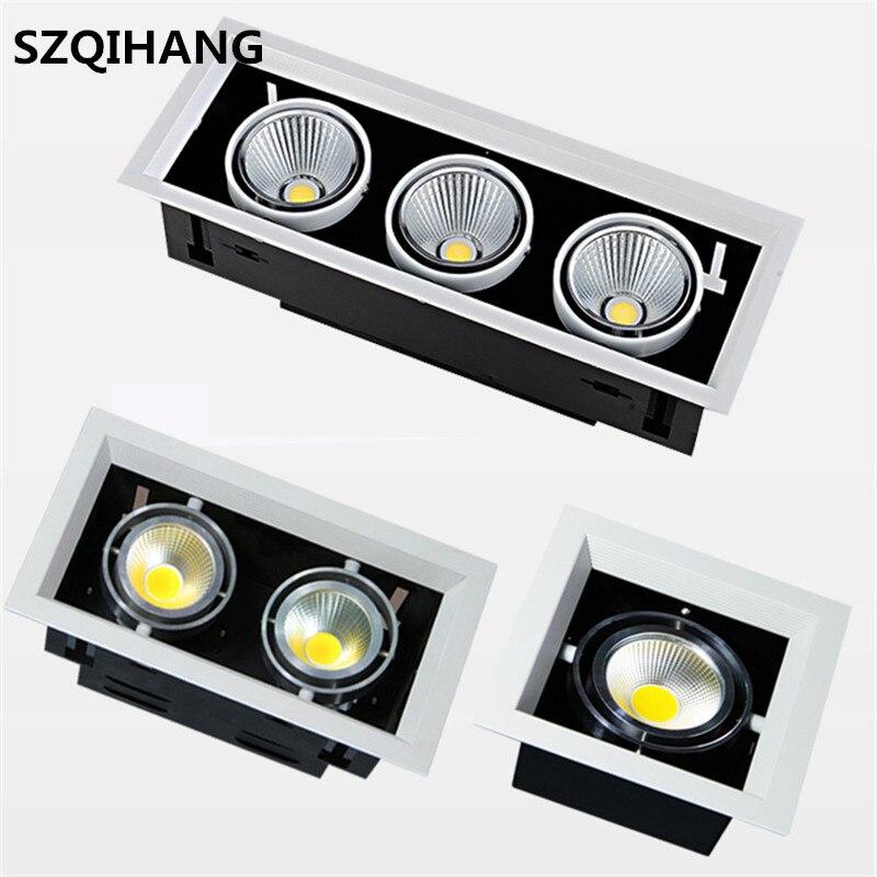 High quality  LED COB Downlights AC85-265V 10W 20W 30W LED Ceiling Lamp Spot Light Warm White/Natural White/Cold White