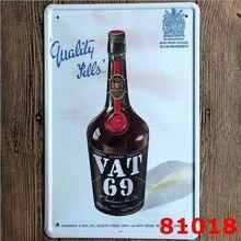 BTW 69 Scotch Blended Whisky Tinteken Metalen Decor Pub Bar Tavern Display 20x30 CM