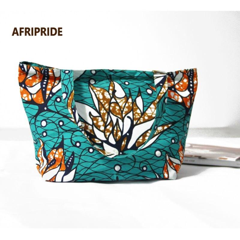 Mode Vrouwen Shouder Afrikaanse Vrouwen Bagage Print Wax Katoen Prive CustomA6B02