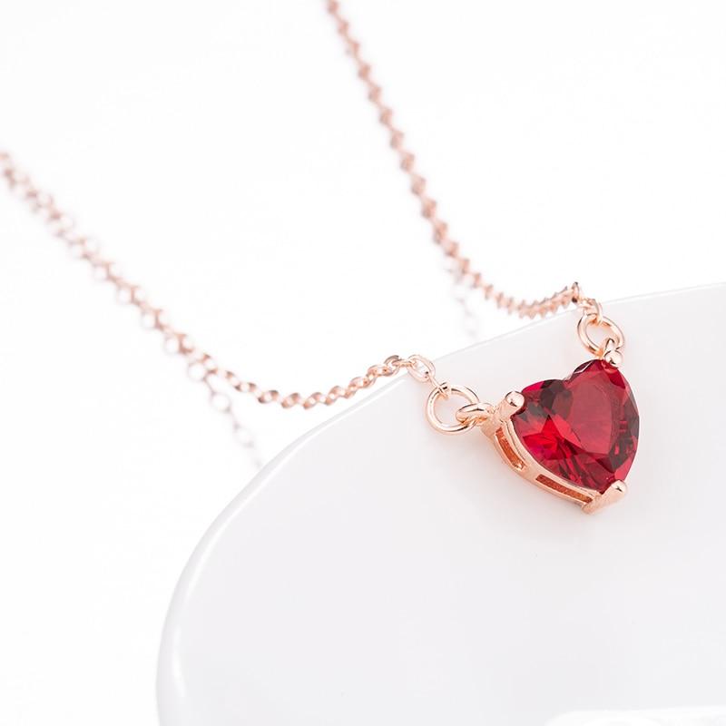 Verano rojo colgantes de corazón collares de joyería de cristales para collar, regalo de boda de Día de San Valentín compromiso joyería Dropship