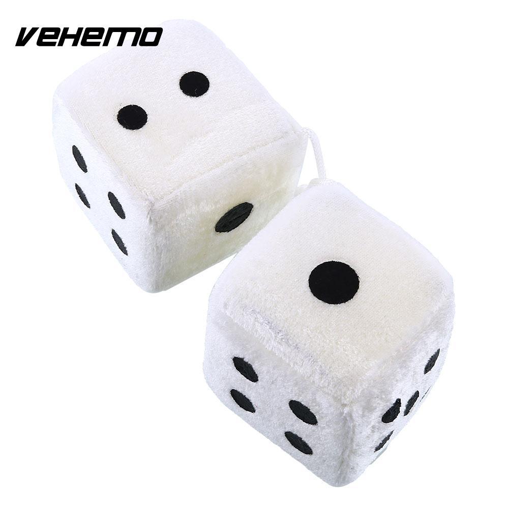 Vehemo пара белый пушистый 7 см кости точка зеркало заднего вида вешалки автомобильные аксессуары * Автомобильный Стайлинг * задние вешалки