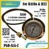 0 ~ 400psi נירוסטה R410a לחץ מד עם 1m אורך גבוהה לחץ צינור משמש לניטור יניקה לחץ & temp.