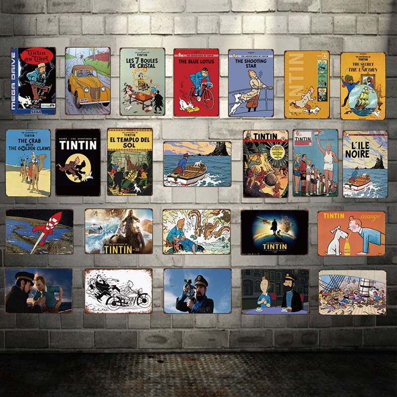 [Kelly66] Tintin Tin Sinal Do Metal Poster Home Decor Arte Da Parede Bar Pintura 20*30 CM Tamanho Dy60
