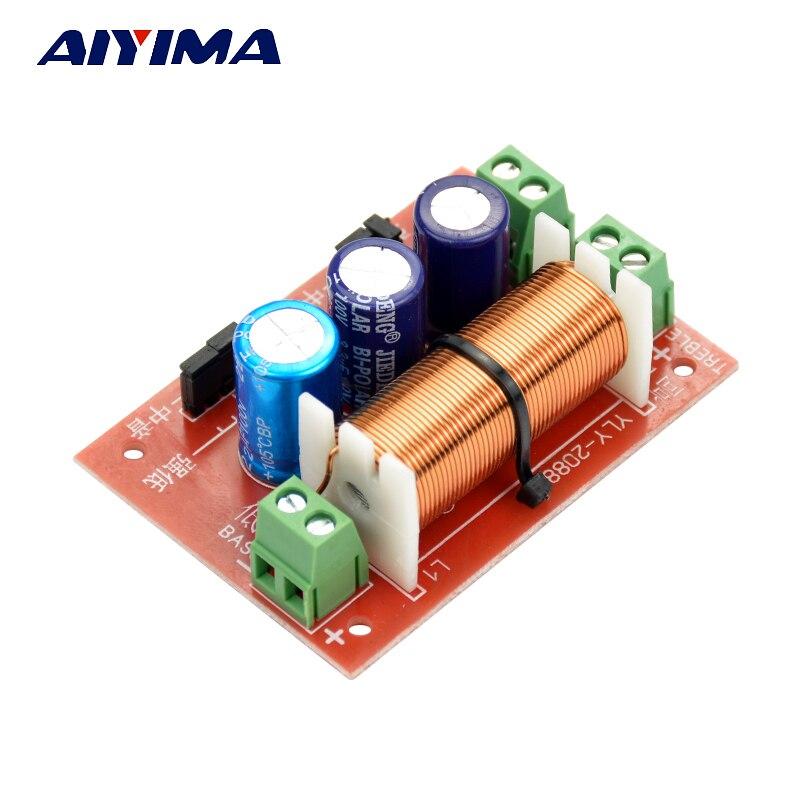 AIYIMA 1 шт. 400 Вт регулировочный тройной преобразователь частоты басов двухсторонний динамик аудио кроссовер фильтры