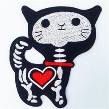 Badge brodé en forme de coeur et de crâne   Vêtements, écusson de chien sur le écusson, avec it, patchs de motard en tissu, livraison gratuite, bricolage