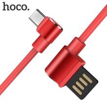 HOCO cables de teléfono móvil USB de 90 grados Cable de tipo C 2A USB-C Cable de datos de carga rápida para Samsung S9 Xiaomi 6X Huawei P10