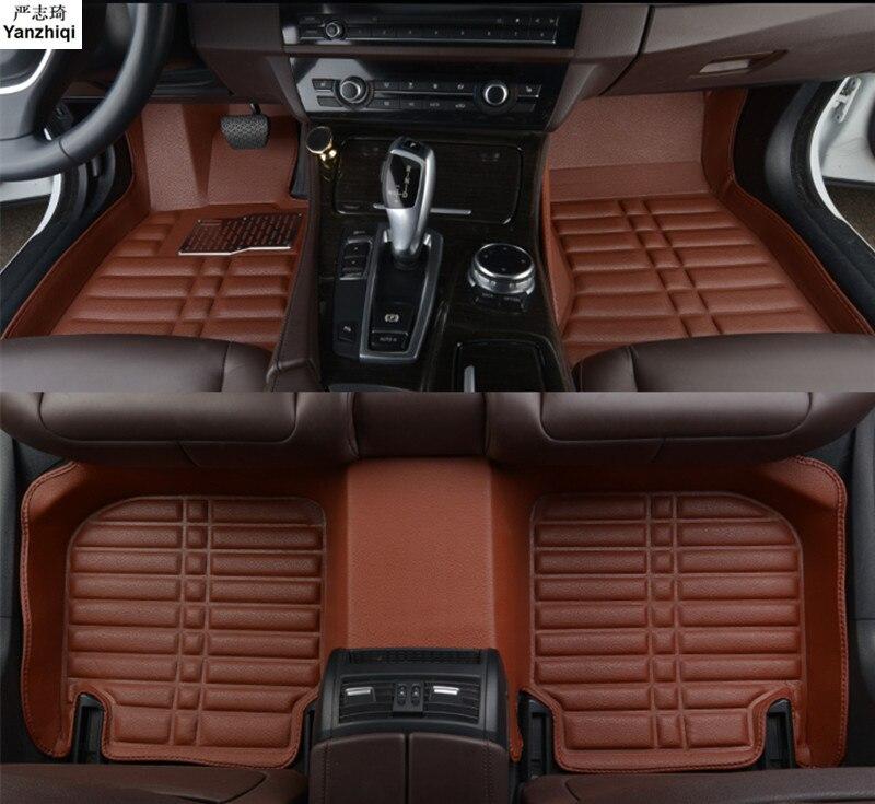 Leder auto boden matten Für Volkswagen VW Golf7/GTI R Mk7 Fließheck Hatch 2013-14 2015 2016 2017 2018 auto-styling Custom car matte