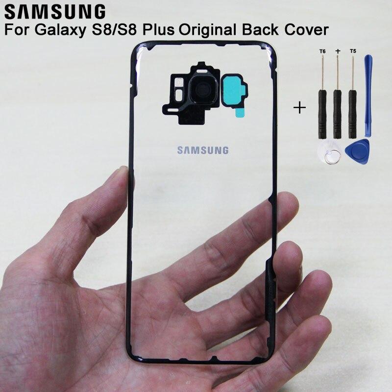 Samsung Original Glass Rear Battery Door Transparent Version For Samsung S8 S8 Plus S8+ S8plus SM-G955 G9500 Housing Back Cover