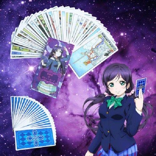 Инструмент для косплея японского аниме «Love Live Nozomi Tojo», карты Таро, Major Arcana, 22 шт., Major 56 Minor, карточка для ключей «Arcana», реквизит для косплея