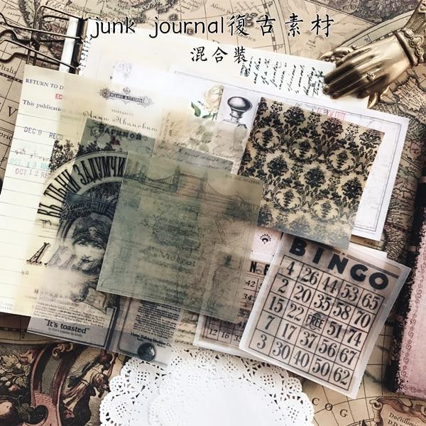 KSCRAFT 22 piezas periódico viejo estilo vitela pegatinas Scrapbooking planificador feliz/tarjeta/Diario de proyecto