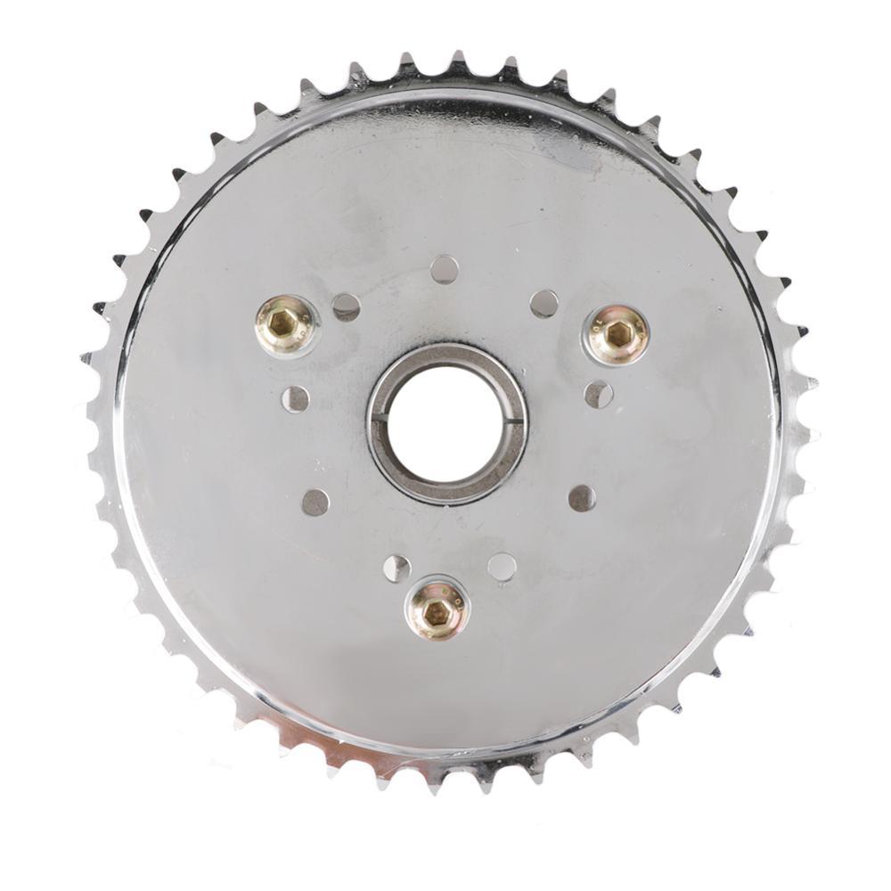 Adaptador de piñón 44T apto para 1,5 pulgadas 1 1/2 pulgadas 415 cadena 49cc 50cc 66cc 80cc 2 tiempos motorizado reemplazo de bicicleta duradero estable