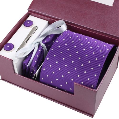 Fashion Necktie Groom Gentleman Tie Set Wedding Birthday Party Gifts Tie For Men Gorgeous Silk Gravata ShIrt Arrow Tie Set