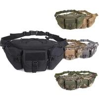 tactical hunting waist bag military molle belt bag hip pack outdoor hiking camping sport bag adjustable chest bag