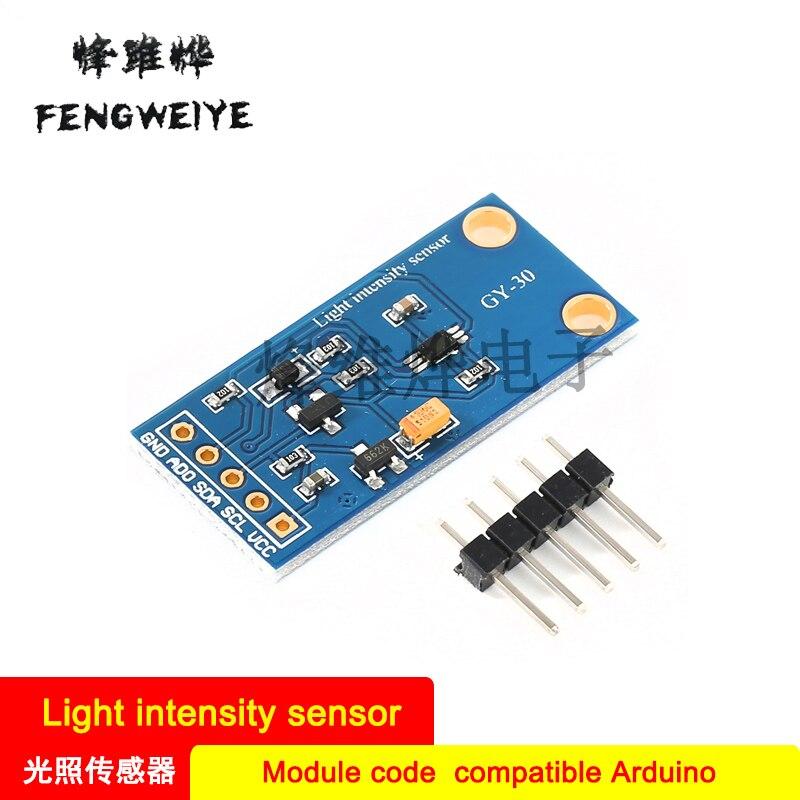 Panel GY-30 Sensor de iluminación de intensidad de luz Digital BH1750FVI código de módulo Compatible con