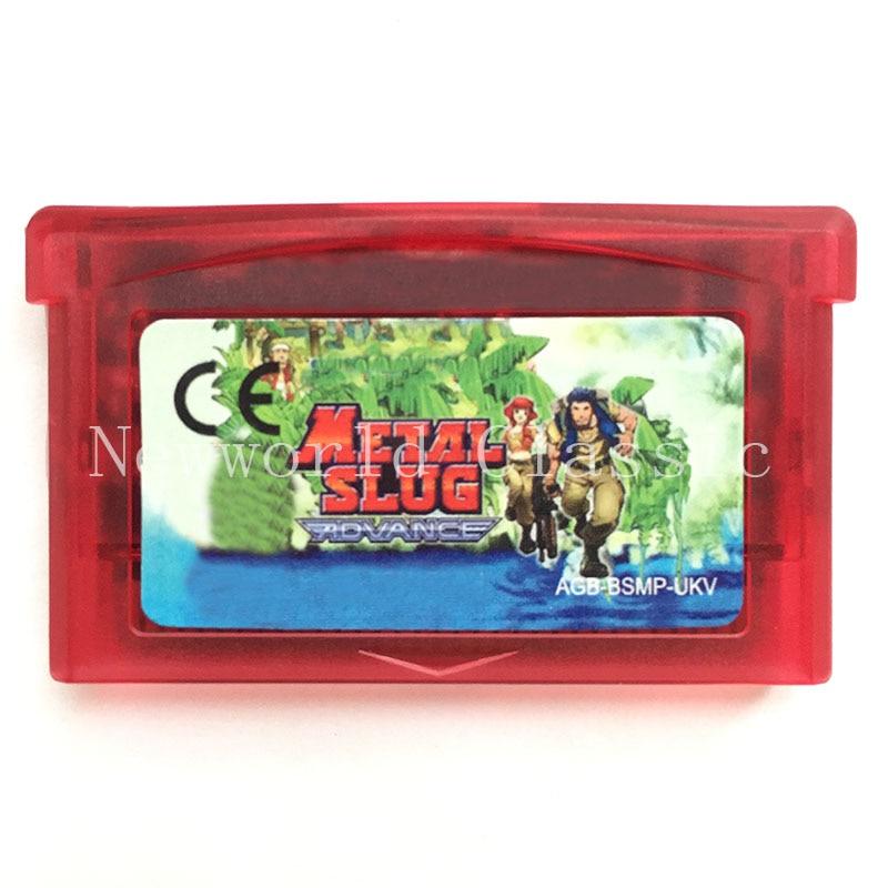 Металлический Slug Advance для 32-битного видеоигрового картриджа консольная карта ручной плеер