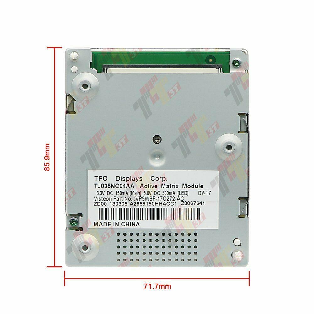 Painel lcd para jaguar xf x250 XF-R instrumento cluster display tpo tj035nc04aa 2008-2015
