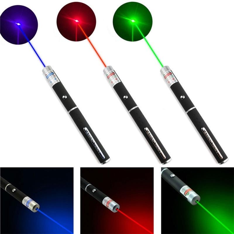 Puntero láser de 5 MW, gran potencia, verde, azul, rojo, puntero láser, potente bolígrafo láser 530Nm 405Nm 650Nm, bolígrafo láser verde