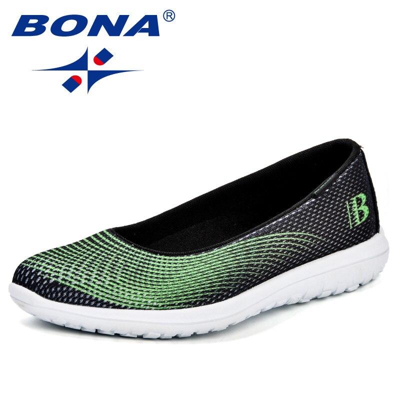 Женские кроссовки на плоской подошве BONA, легкие дышащие кроссовки из сетчатого материала на каждый день, для прогулок, для мам, 2018