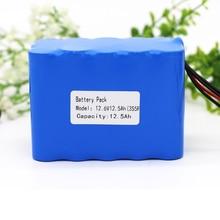 KLUOSI 3S5P 12V Battery Pack  11.1V /12.6V12500mAh  Lithium Battery Pack with 25A Balance BMS for LED Light Backup Power Supply