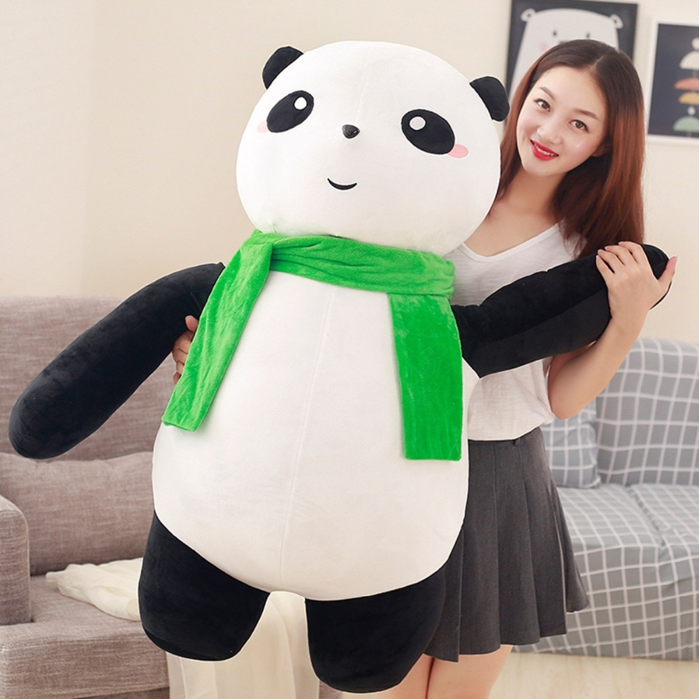 Juguete relleno gigante de 100 cm, panda gigante, peluche, muñeco suave, almohada grande, regalo de cumpleaños h2577