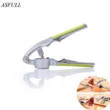 ASFULL Multifunction Kitchen Cooking Tools Stainless Steel Color Garlic Press Vegetable Tool for All
