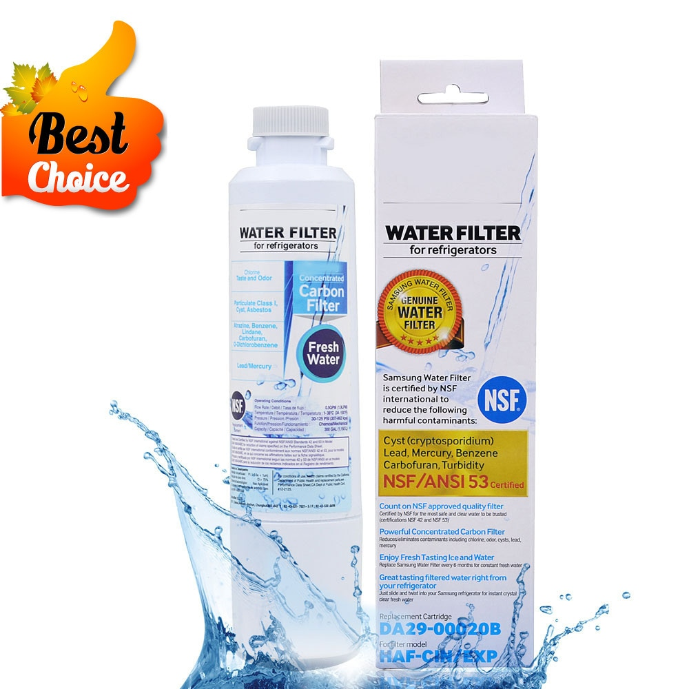 Hot! Activated Carbon Water Filter Refrigerator Water Filter Cartridge Replacement For Samsung Da29-00020b Haf-cin/exp 1 Piece