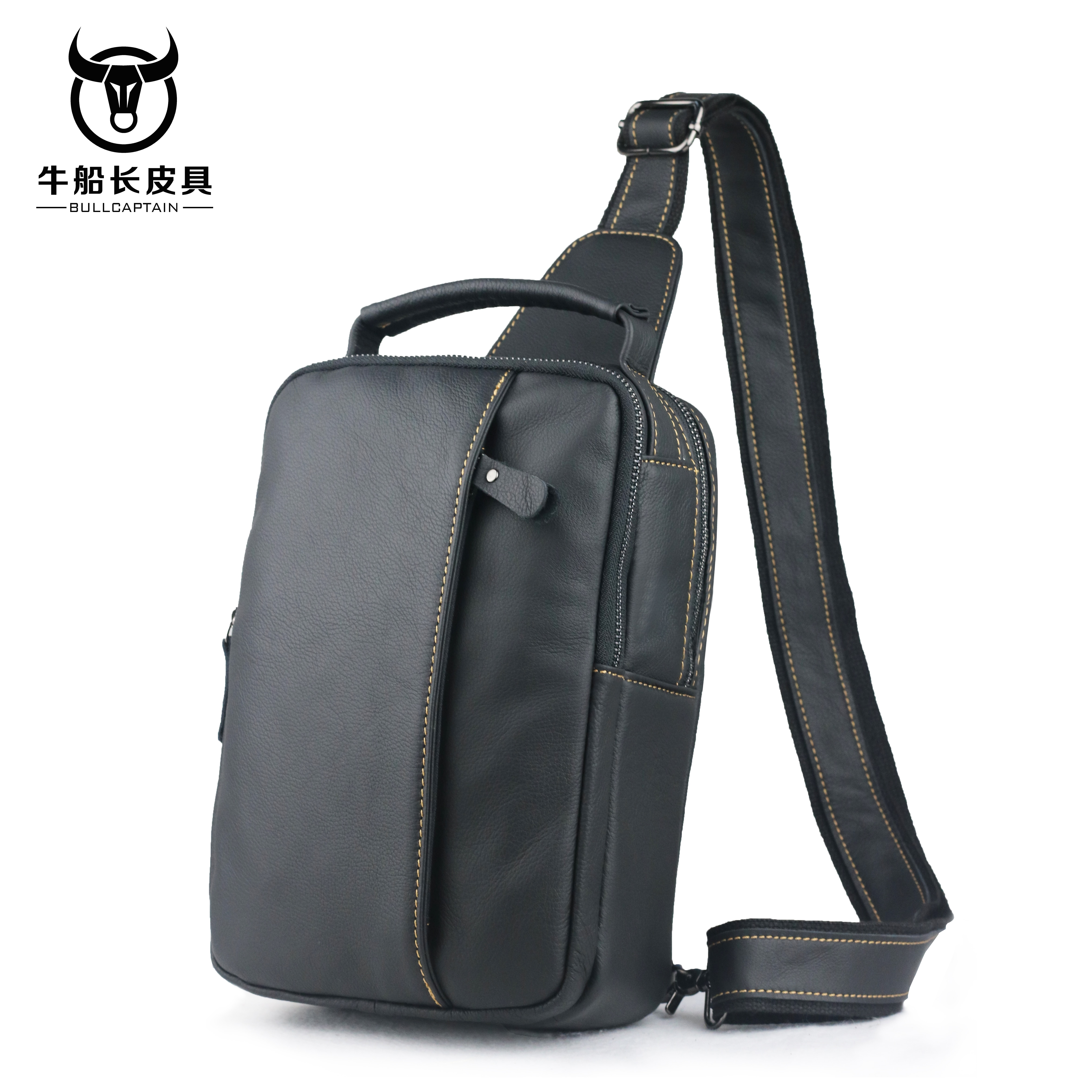 BULLCAPTAIN Crossbody Bags for Men Messenger Chest Bag Pack Casual Bag Waterproof Nylon Single Shoulder Strap Pack 2018 Fashion