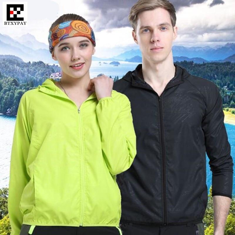 200 Uds., amantes de los hombres y las mujeres, chaqueta a prueba de viento con capucha, secado rápido, Fitness, protección solar Anti-lluvia, sudaderas ultraligeras y Anti-UV