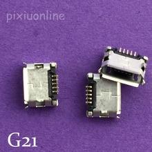 Mini prise de charge USB pour téléphone   Lot de 10 pièces G21Y, Mini connecteur USB 5pin DIP femelle pour téléphone portable, vente bouche bouclée à perte brésilienne