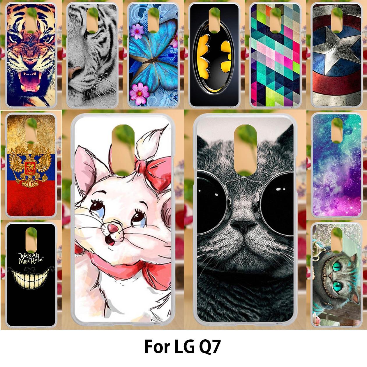 Funda Anunob para LG Q7 casos TPU de silicona suave de 5,5 pulgadas para LG Q7 más Q7 alfa LG estilo/L-03K cubre soleado sonrisa pintura