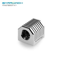 FBB3T-V1 Barrowch, raccords dadaptateur cubiques à 3 voies en argent, nouveau Style, raccords à 3 voies G1/4