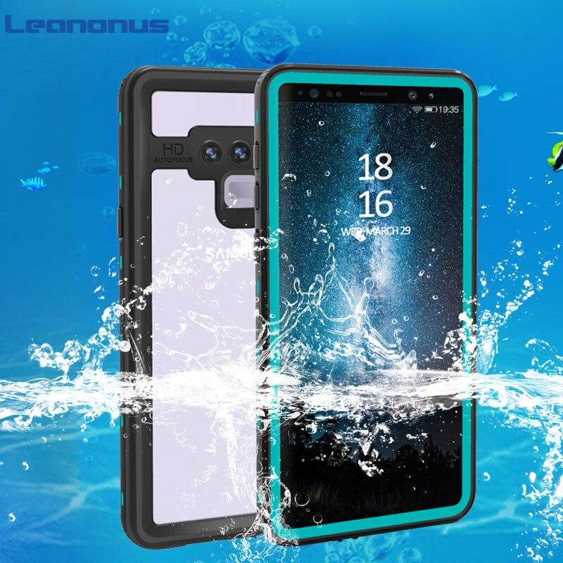 Funda de buceo impermeable IP68 para Samsung Galaxy Note 9, Note 8, S8, S9 Plus, cubierta trasera transparente, funda a prueba de agua para nadar