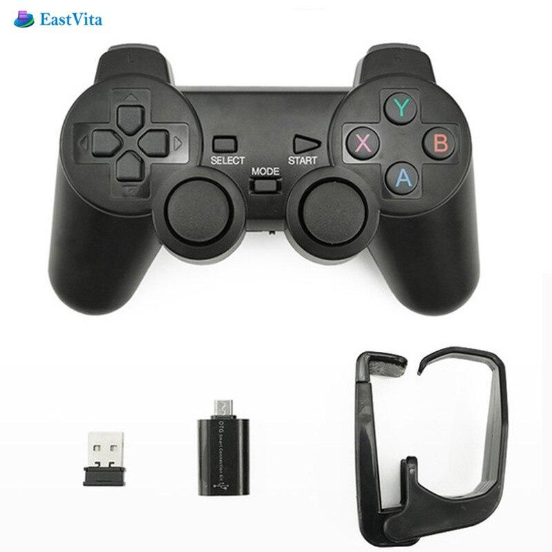 Controlador do jogo do joystick 2.4g joypad para samsungs8 s8plus r25 da caixa da tevê de eastvita android sem fio gamepad para o telefone android/pc