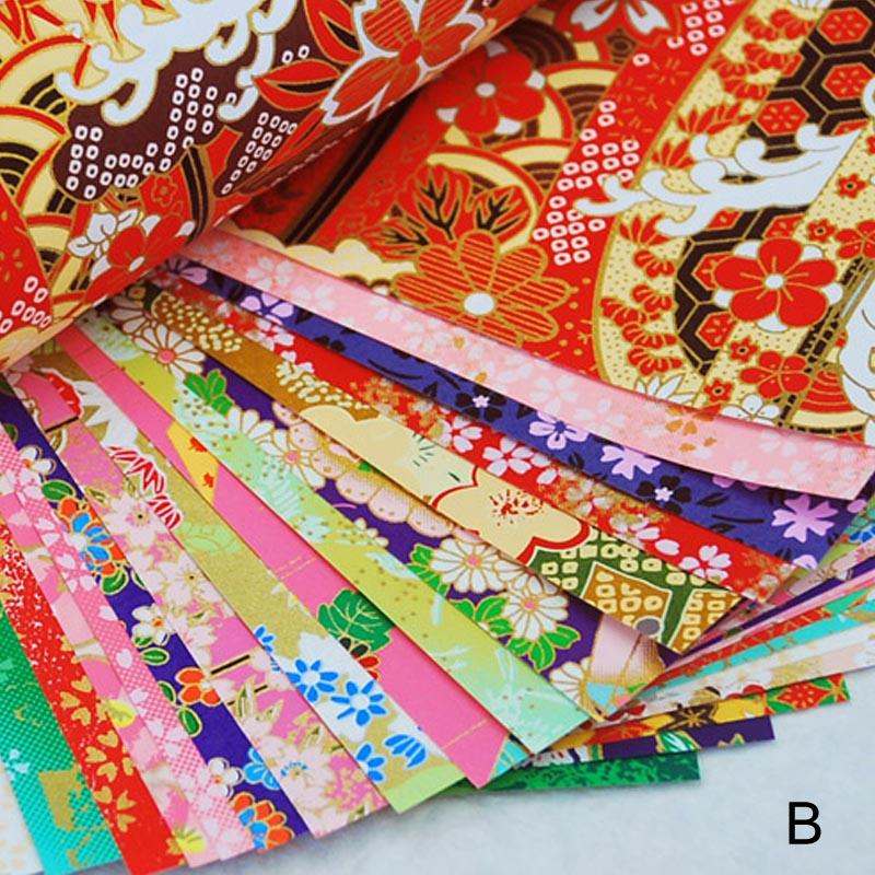 Материалы ручной работы золотые линии бумажный кран подарочные упаковочные материалы оригами Бумага Цветок квадратный скрапбук бумага s