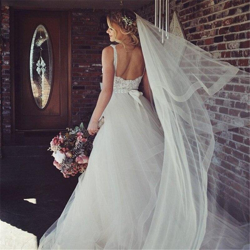 Nouveau voile de mariée, voile de mariage avec peigne, voile ivoire cathédrale fard à joues voile à deux niveaux avec garniture en crin de cheval de 2 pouces, 108 pouces