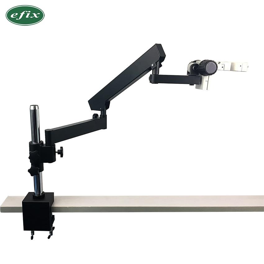 Soporte de abrazadera de Pilar articulado efix para zoom estéreo Microscopio brazo Focuse Trinocular accesorios de Microscopio