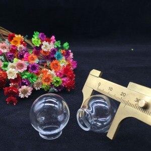 Прозрачный стеклянный шар, стеклянный купол, стеклянная бутылка, стеклянная флакон, подвеска ручной работы, модная фурнитура для ожерелья, 10 шт./25*15 мм