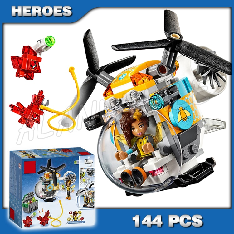 144 шт. DC супер герой девушки Bumblebee вертолет 10614 модель строительные блоки собрать кирпичи Подарки Игрушки совместимы с Lego