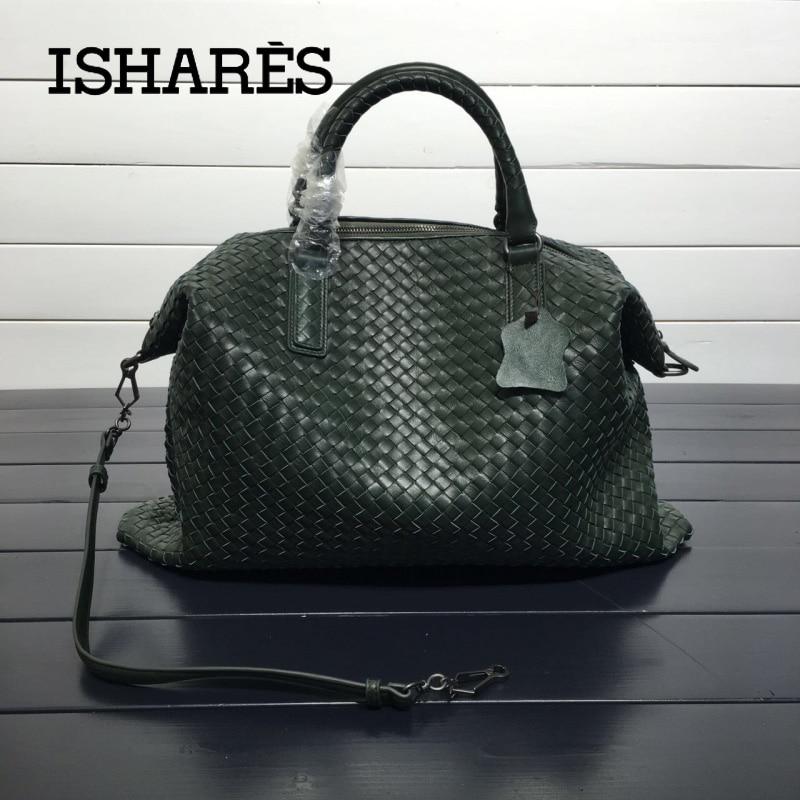 Сумка ISHARES из натуральной овчины, женская сумка на плечо из овчины высокого качества, повседневная вместительная сумка IS193785L