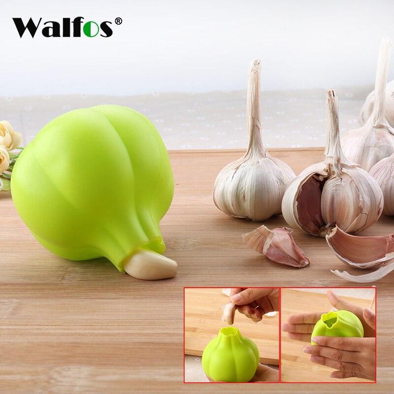 WALFOS оригинальное устройство для чистки чеснока, практичная силиконовая Овощечистка чеснока, бытовой пищевой инструмент для зачистки чесно...