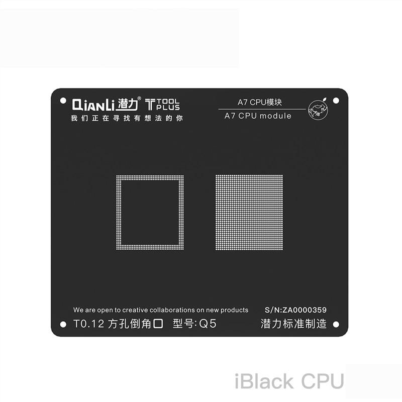 Qianli 3D iBlack BGA cpu набор трафаретов IC чипы материнская плата с технологией шариковых выводов ремонт Сварка шаблон для iPhone XS XR XSMAX X 8 P 8 7 6