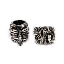 Fashion EDC Bead Evil Skull Charm for 550 Paracord Bracelet DIY Lanyard Making