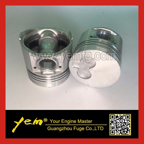 Para piezas de motor Isuzu 3KR1 pistón + anillo de pistón