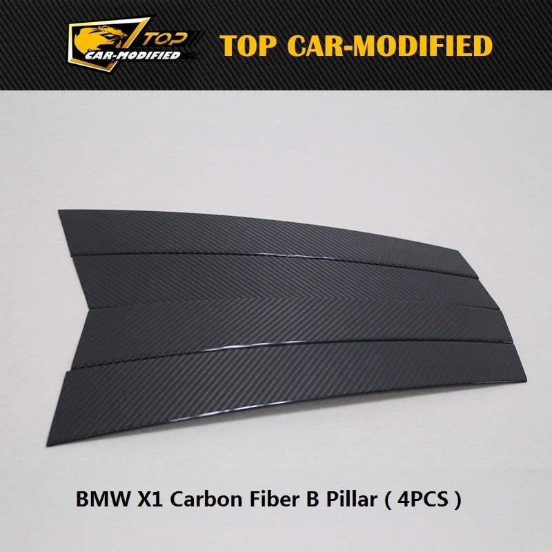 無料市平炭素繊維b側ピラー外装トリム用bmw x1ドアトリムプレート