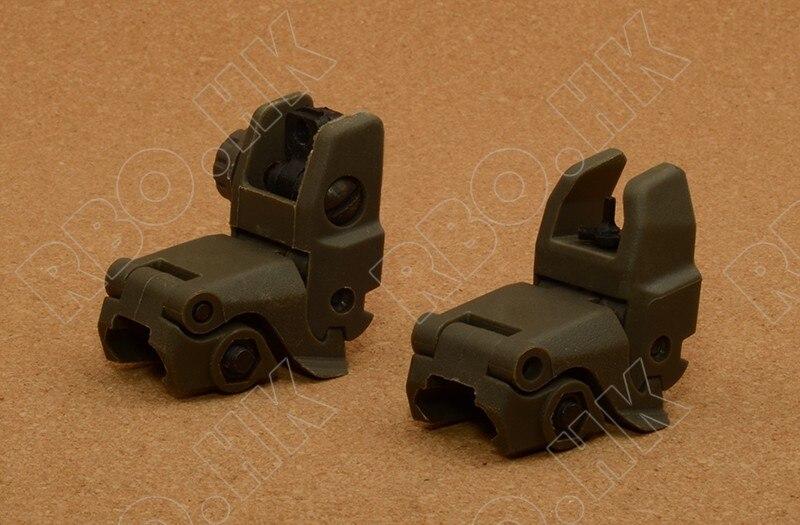 Mira plegable trasera de Rifle Ar 15 para Picatinny Weaver riel de montaje Base OD SPARTA
