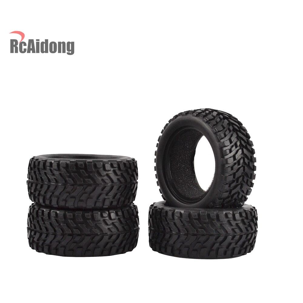 4 Uds 1/10 RC coche de Rally de neumáticos de goma para Traxxas Tamiya HPI Kyosho HSP RC en coche de carretera