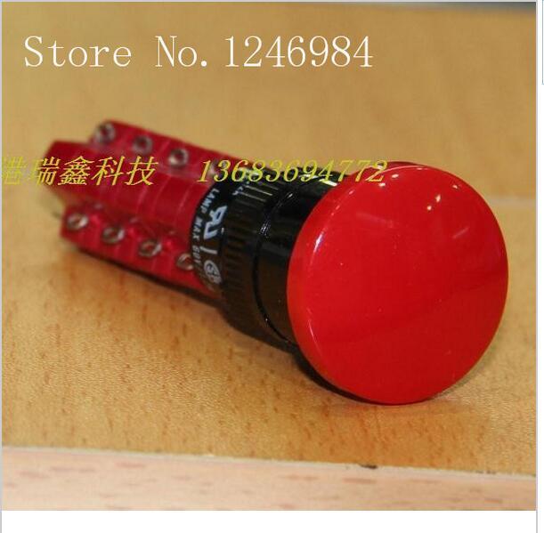 [SA]M16 مع قفل زر التبديل عشاري تايوان التقدمي التحالف جولة أربعة الأحمر فطر رئيس D16LAR3-4AB-5 قطعة/الوحدة
